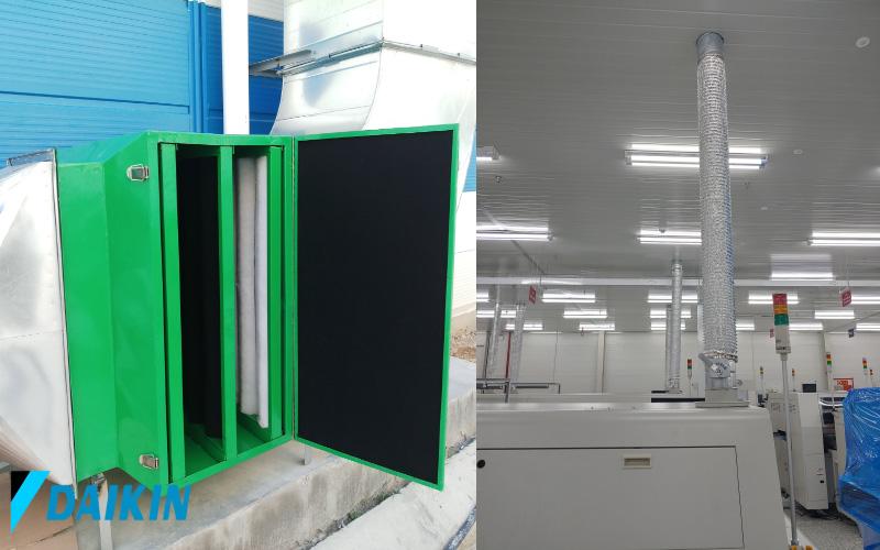 Hệ thống hút và lọc bụi khói hàn được kỹ sư Daikin Sen Việt thiết kế, thi công, mang tới không khí trong sạch